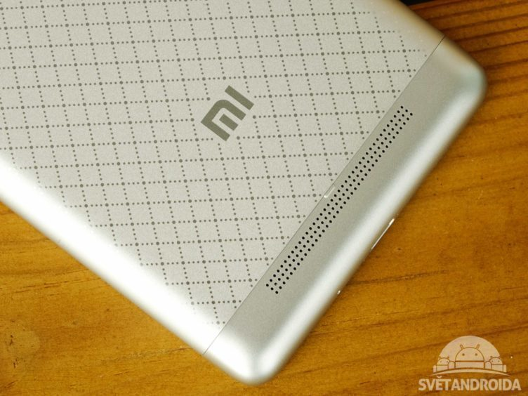 Xiaomi Redmi 3 - konstrukce, reproduktor
