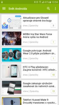 aplikace Svet Androida