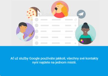 Představují se nové Kontakty Google