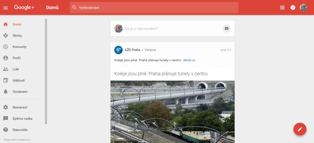 Google+ v roce 2016