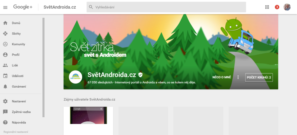 SvětAndroida.cz na Google+