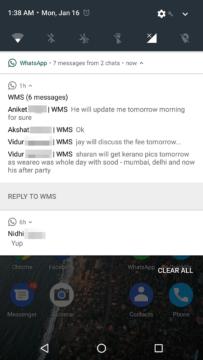Přehled zpráv v konverzacích