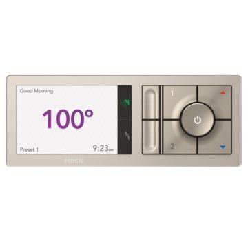 Ovládací panel indikuje teplotu