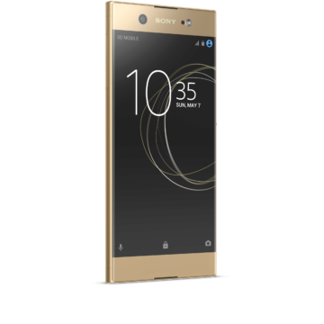 02_Xperia_XA1_Ultra_gold_front_angled_right