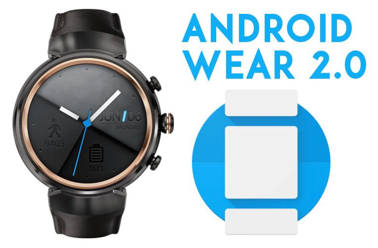 aktualizace Android Wear 2.0