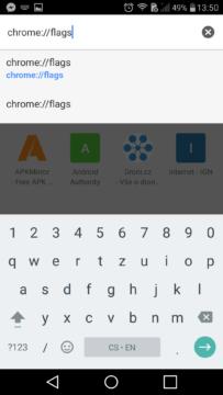 Google Chrome experimentalni funkce