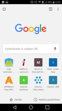 Google Chrome zalozky