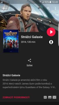 Google Play Movies – tmavé téma (1)
