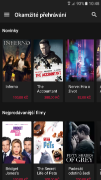 Google Play Movies – tmavé téma (2)