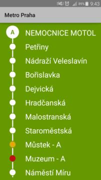 Seznam zastávek