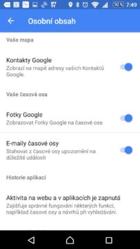 E-maily časové osy