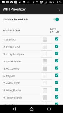 Seznam uložených Wi-Fi sítí