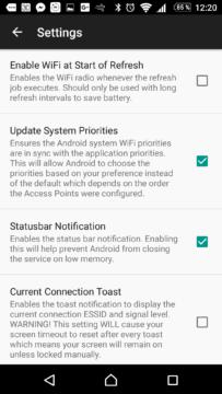 Nastavení aplikace WiFi Prioritizer