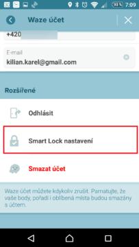 Smart Lock nastavení