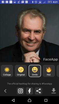 Přidání úsměvu
