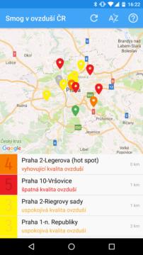 Smog v ovzduší ČR