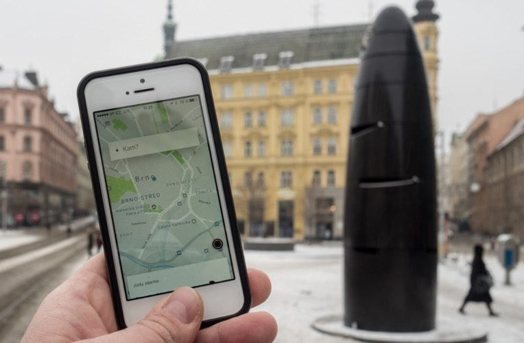 Uber v Brně