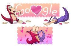 Valentýn Google Doodle