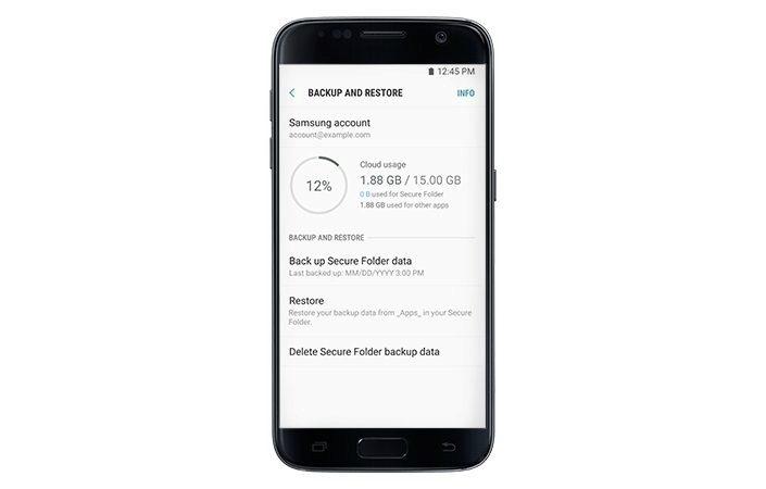 Samsung nabízí zálohu a obnovu dat této aplikace