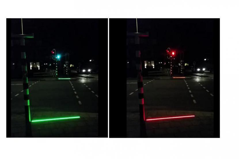Semafory pro chodce zahleděné do mobilu