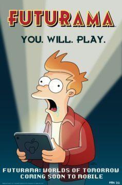 futurama android hra plakat