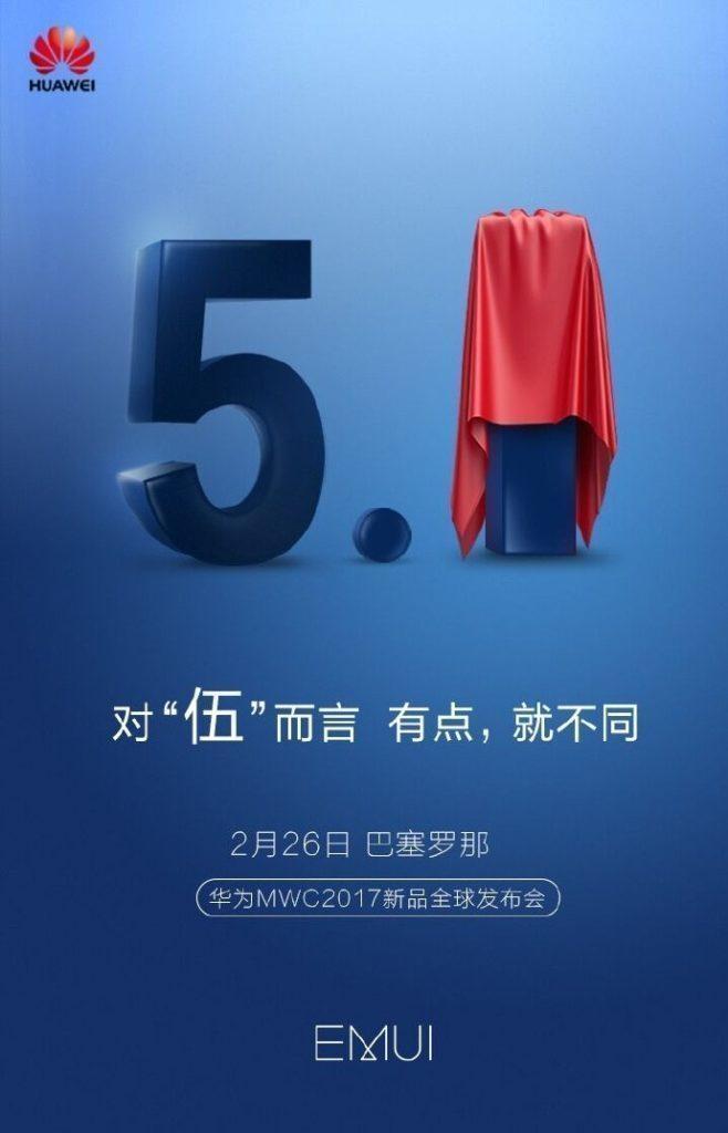 Huawei představí novou verzi svého prostředí EMUI 5.1 na MWC