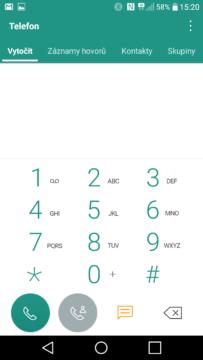 LG K10 (2017) dialer