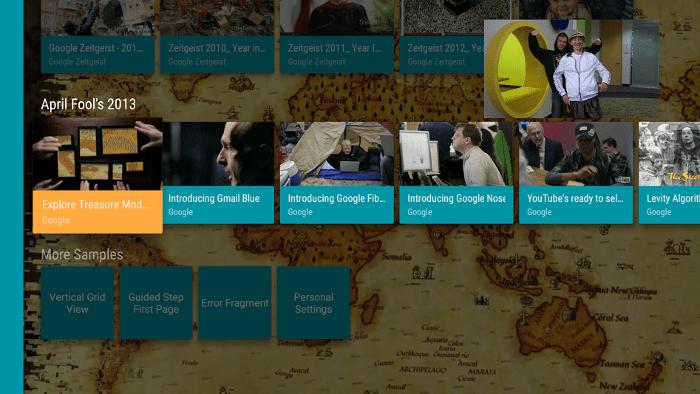 Obraz v obraze Android TV