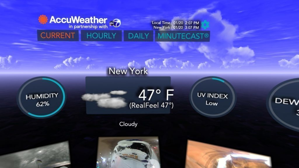AccuWeather pro Gear VR