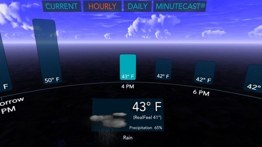 AccuWeather přináší předpověď počasí ve virtuální realitě