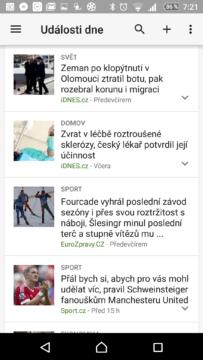 Aplikace Zprávy a počasí Google