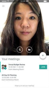 Snímek aplikace Google Meet