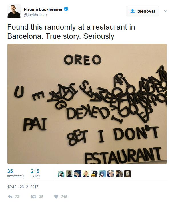 Hiroshi Lockheimer provokuje s názvem Oreo na Twitteru
