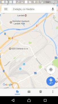 Otevřete Mapy Google