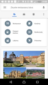 Mapy Google Kategorie bodů zájmu
