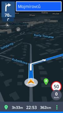 Sygic GPS Navigace a Mapy Třetí nejlepší navigace pro Android