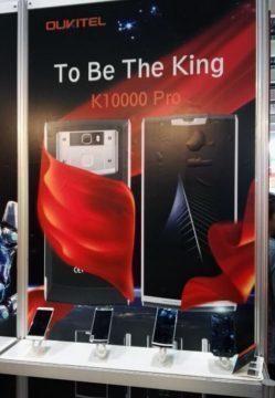 Výrobce prezentuje Oukitel K10000 Pro jako královský mobil