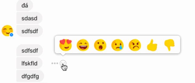 to se mi nelíbí u facebook messengeru