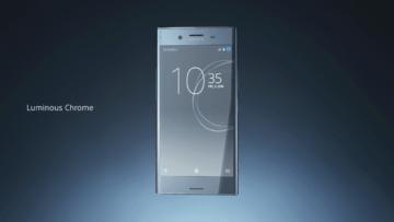 Sony Xperia XZ Premium v chromové barvě