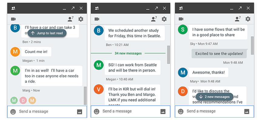 Vylepšení Hangouts: nový indikátor nepřečtených zpráv