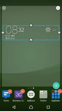 Nový widget Xperia Weather