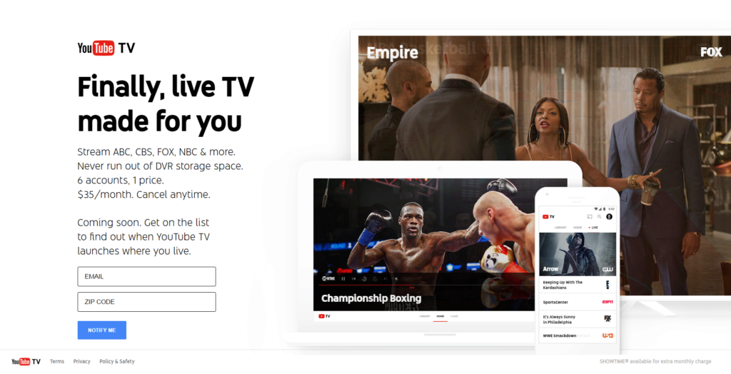 YouTube TV: online televize za 900 Kč měsíčně, zatím však jen v USA