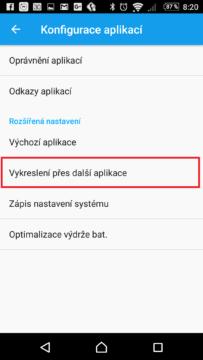 Vykreslení přes další aplikace