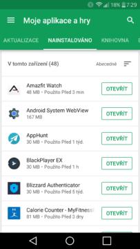Moje aplikace Google Play (1)