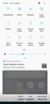 Recenze Samsung Galaxy S8 systém notifikační lišta