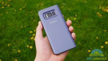 Recenze Samsung S8 obal flipcase kamera