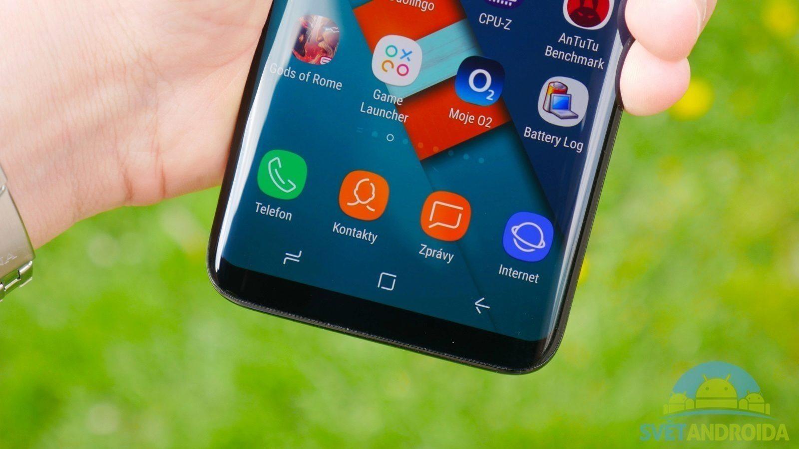Recenze Samsung S8 konstrukce tlačítka