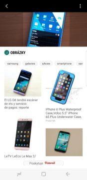 Samsung Galaxy S8 recenze Bixby obrázky
