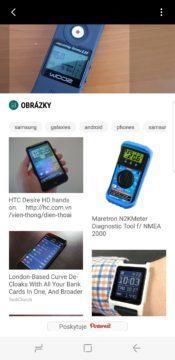 Samsung Galaxy S8 recenze Bixby obrázky vyhledávání