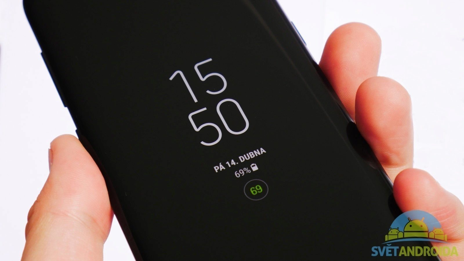 Samsung Galaxy S8 recenze displej AlwaysOn